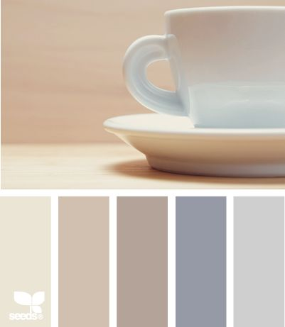 "Neutral & muted cup tones. Yet this is still a nice change of pace from more common ""transitional themed"" decor (think construction beige, taupe, etc)."