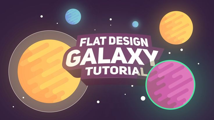 Flat design Tutorial: Space, Galaxy & Planets by Swerve™