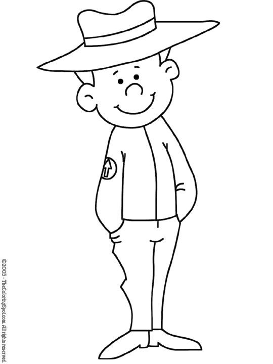 forest ranger coloring pages - photo#5