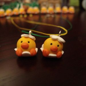Easter Chick Clay Necklace!