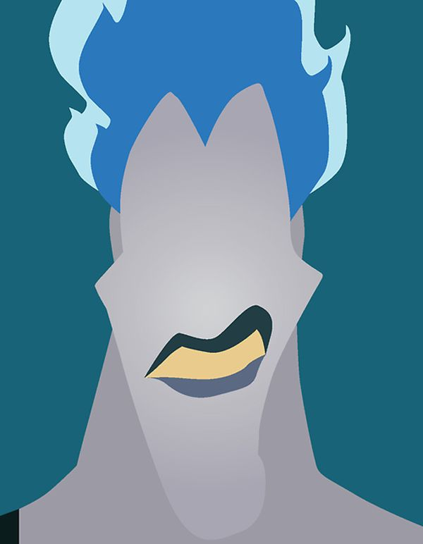 Hades - Minimalist Disney Villian posters by Chelsea Mitchell