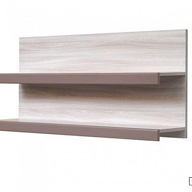 КМ-7 Полка навесная двойная для гостиной купить в Екатеринбурге | Мебелька