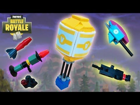 lego fortnite guided missile launcher heavy shotgun rainbow smash and supply drop youtube - lego ideas fortnite