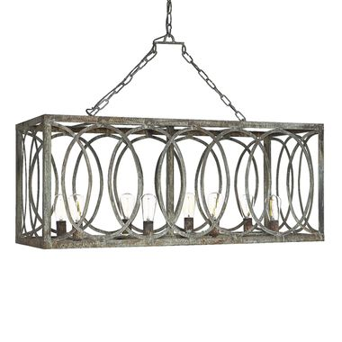 French Iron Charles 8 Light Medallion Chandelier. Also available with off white linen lining or burlap lining for a warm glow.  Pairs beautifully with modern and rustic furnishings.  Every piece is hand forged and hand finished.  Holds up to 60 watt bulbs. 8 Lights. Shown in Deep Ocean finish without lining
