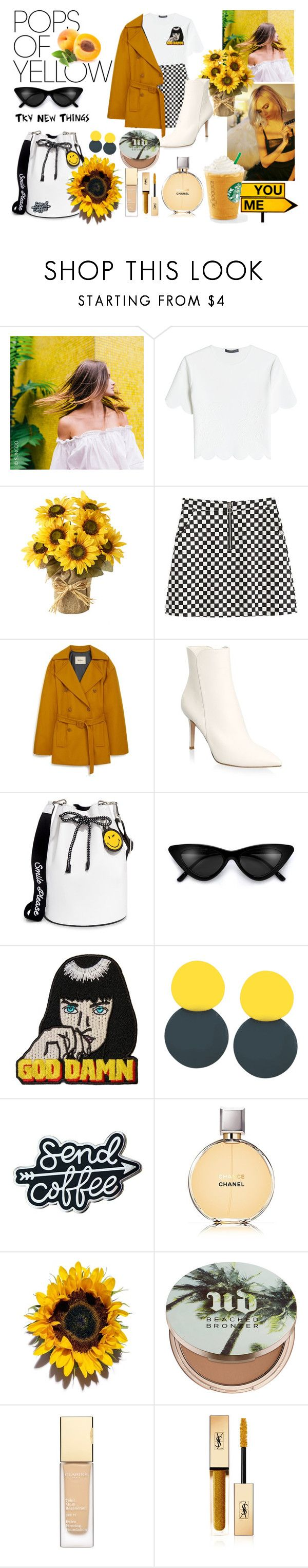 """hellow yellow"" by rafinhachimati ❤ liked on Polyvore featuring Jimmy Choo, Alexander McQueen, Mulberry, Gianvito Rossi, Joshua's, Wallace, Chanel, Urban Decay, Yves Saint Laurent and PopsOfYellow"