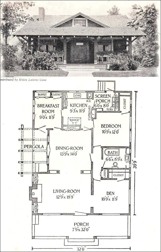 Californian Bungalow Floor Plan Bungalow Sq Ft Old House Plans For Little Homes Californian Bun Bungalow House Design Craftsman House Plans Vintage House Plans