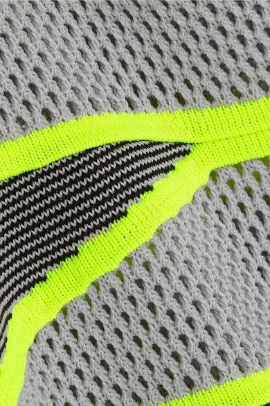 Alexander Wang | Mesh-paneled knitted mini dress | NET-A-PORTER.COM