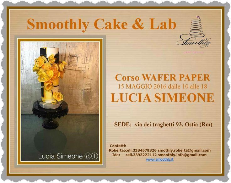 La wafer papera con Lucia Simeone é la meraviglia ..impariamo con lei a creare questo stupendo lavoro ...prenotazioni attive !