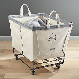 Steele Rolling Laundry Basket