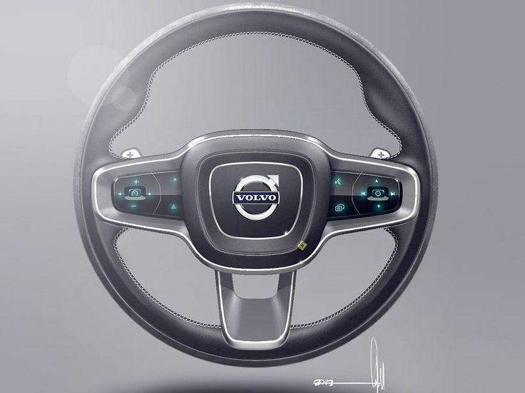 Volvo concept coupe steering wheel sketch