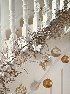 The Best DIY and Decor: White Christmas Stairway