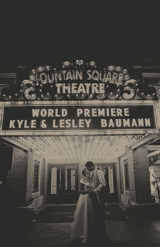 Lesley Kyles Vintage Fountain Square Theatre Wedding