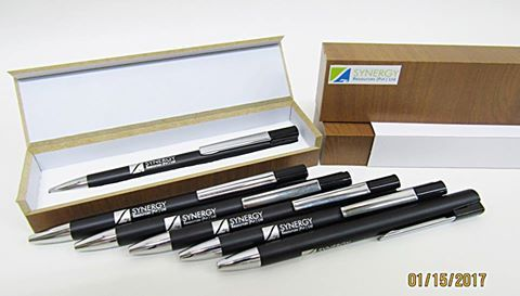 Metal Pens engraved for the client.