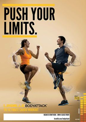 Les Mills BODYATTACK® is a high-intensity cardio workout designed to build strength and stamina. #lesmills #NoPainNoGail