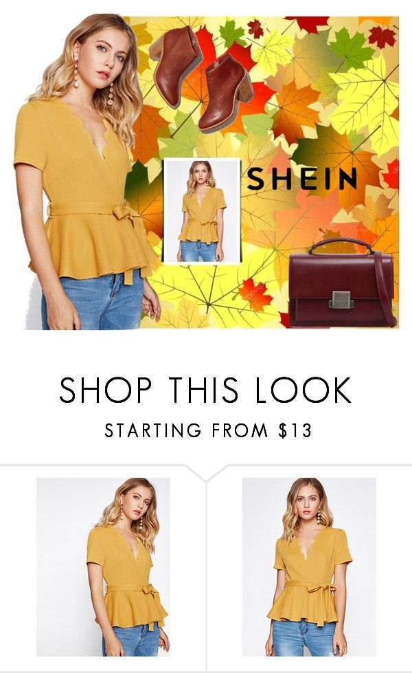 """""""SheIn"""" by enaa-288 ❤ liked on Polyvore featuring Yves Saint Laurent"""