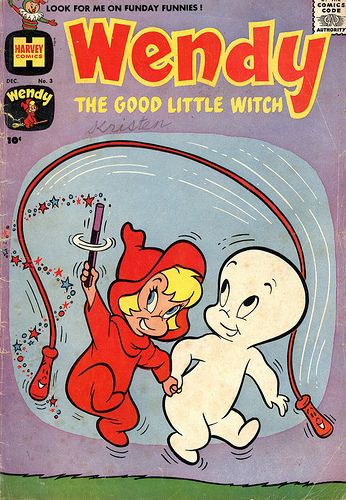 Casper meets Wendy! Comics like this inspired a telemovie which kickstarted Hilary Duff's acting career.