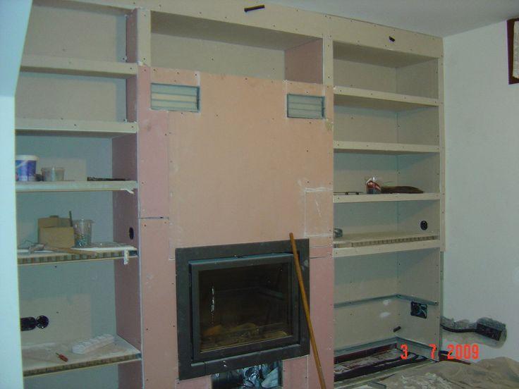 Cubrir tiro chimenea con pladur hacer bricolaje es - Hacer pared pladur ...