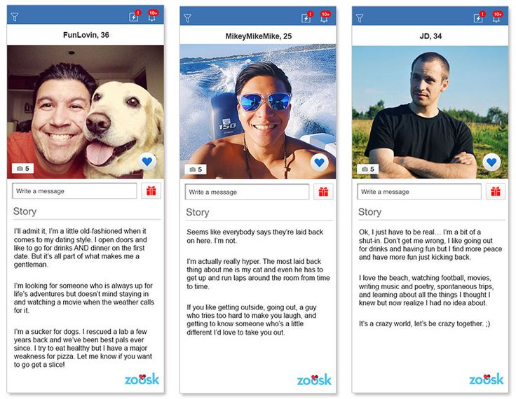 Three online dating profile examples for men in their 20s and 30s