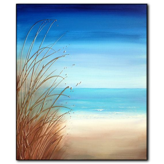 Gallery For gt Simple Beach Painting