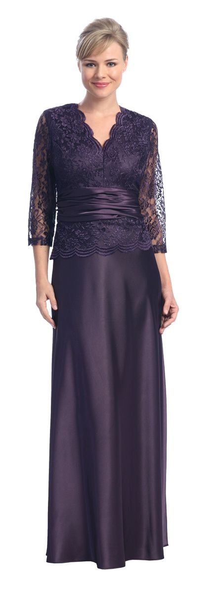 Cheap Plum Mother of the Bride Dress/Groom Wedding Gown Formal $157.99