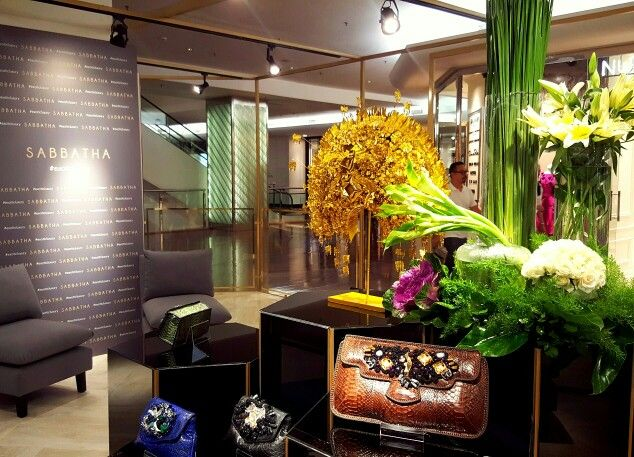 Another green arrangement by MHDSY for the opening party of Sabbatha