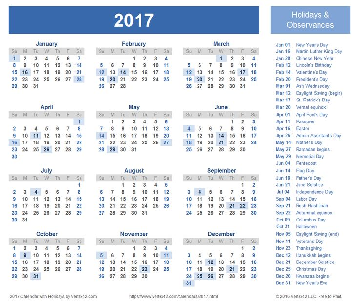 Best 25+ 2017 calendar with holidays ideas on Pinterest 2017 - assessment calendar templates
