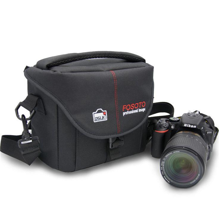 fosoto Camera Bag Nylon Case Photo Video Photography Should Bags for Canon Nikon D3300 Sony Pentax Samsung Panasonic DSLR Camera