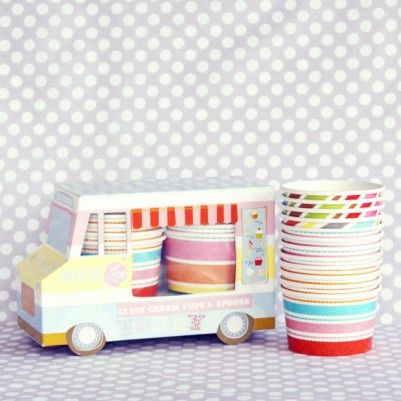 Ice cream truck cups