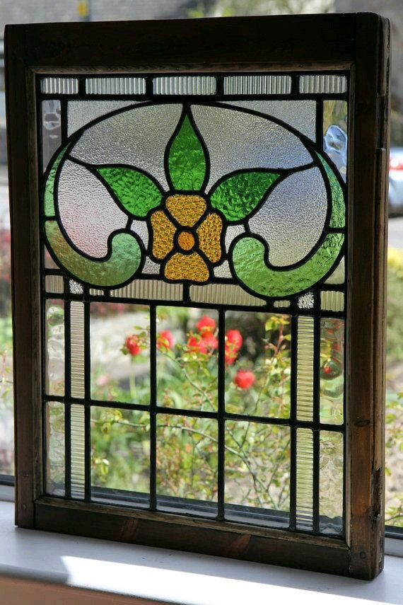2 Antique Stained Glass Panels   Reclaimed Restored   Rescued From  Warrington, England, UK.