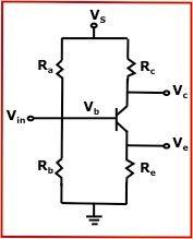 BJT Transistor Bias Voltage Calculator - Calculates for Series Resistor and Voltage Divider