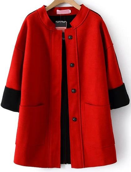 Shop Red Long Sleeve Buttons Pockets Loose Coat online. Sheinside offers Red Long Sleeve Buttons Pockets Loose Coat & more to fit your fashionable needs. Free Shipping Worldwide!