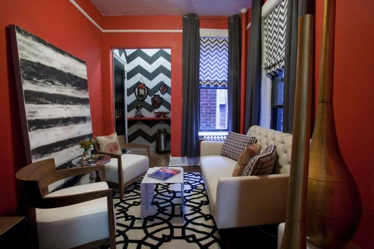 DIY chevron walls: Bedrooms Makeovers, Diy'S Chevron, Decoration Idea, Living Room, Diy'S Homes Decoration, Kyle Schuneman, Chevron Wall, Apartment Makeovers, Design Kyle