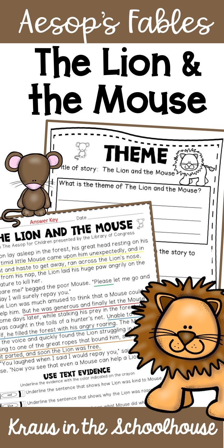 Using Aesop S Fables With Students Is A Fun Way To Teach Theme The Lion And The Mouse Is The Perfect Fa Teaching Themes Lion And The Mouse Reading Vocabulary [ 1440 x 720 Pixel ]