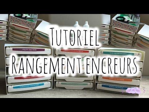 [Tutoriel n°6] : Rangement Encreurs | Scrap with Steph - YouTube - YouTube