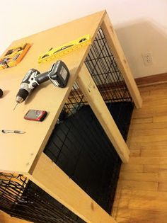simple dog crate table cover                                                                                                                                                      Mehr