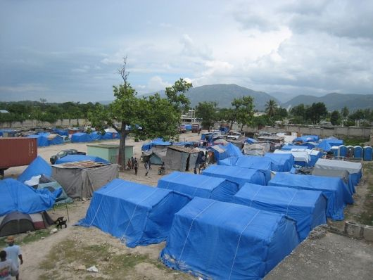 Paper Emergency Shelter for Haiti, 2010, Port-au-Prince, Haiti. Photo by Shigeru Ban Architects