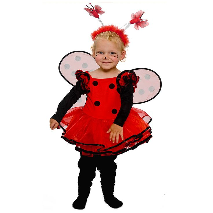 Lieveheersbeestje jurk kostuum baby
