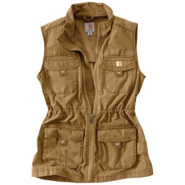 101110 Carhartt Women's El Paso Utility Vest | G&L Clothing ❤ liked on Polyvore featuring outerwear, vests, vest waistcoat, carhartt vest, brown waistcoat, brown vest and carhartt