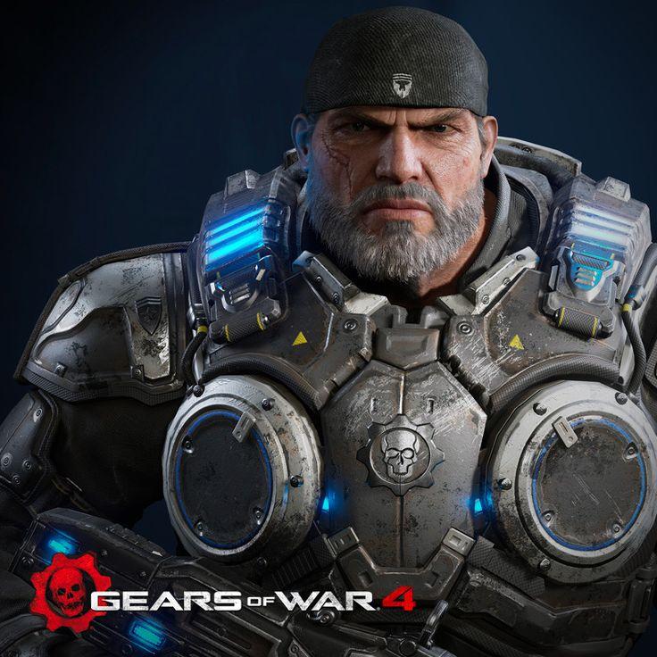 Marcus Fenix - Gears of war 4, Heber Alvarado on ArtStation at https://www.artstation.com/artwork/y6PR5