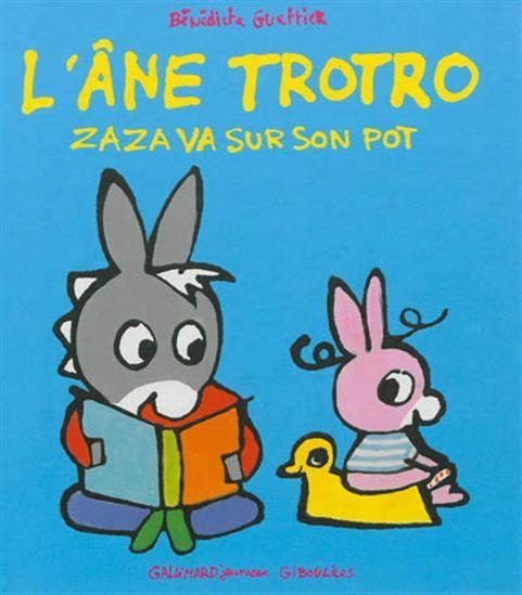 Zaza, la petite soeur de Trotro doit apprendre à ne plus faire dans ses couches. Trotro lui enseigne comment se mettre sur le pot.
