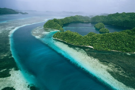 National Geographic: An aerial view of islands in the Republic of Palau. by National Geographic on artflakes.com as poster or art print $16.63