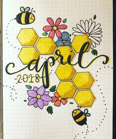 20 Ideen für schöne Seiten im Frühling-Bullet-Journal