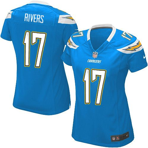 Women's Nike San Diego Chargers #17 Philip Rivers Elite Alternate Light Blue Jersey $109.99