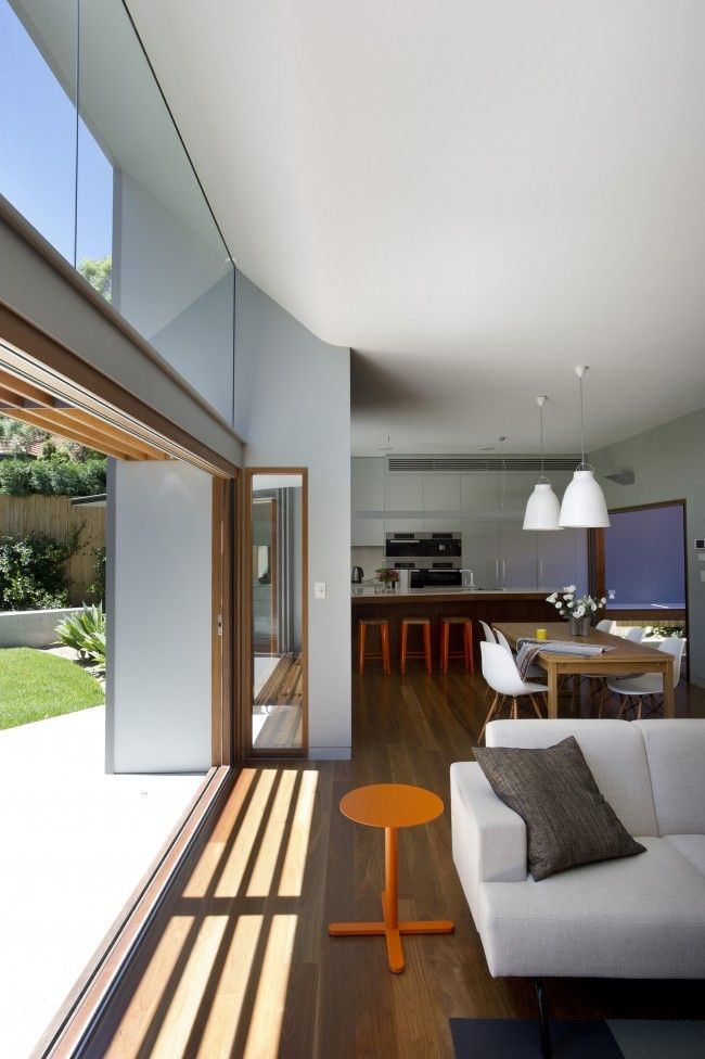 The 2012 Houses Awards - Smith house by David Boyle | Seamless ceiling to soffit transition.
