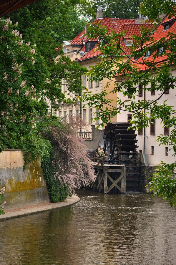 Water Mill in Prague, Czech Republic