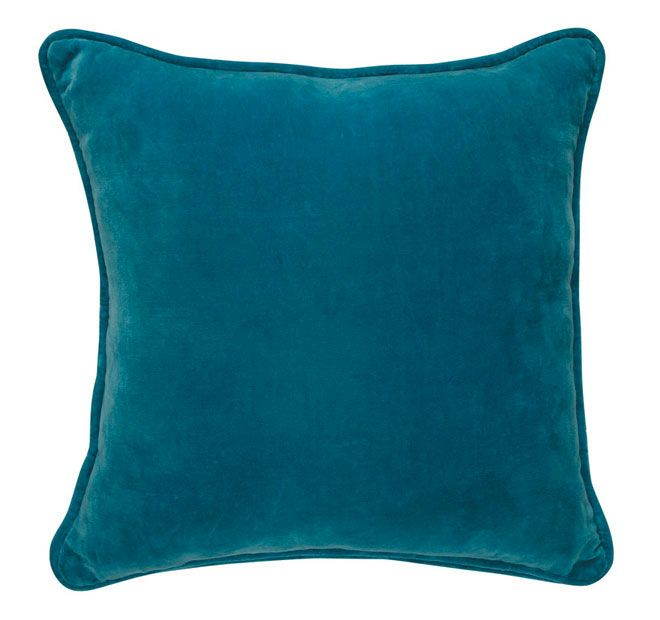 Lilly and Lolly Velour 40x40cm Filled Cushion Aqua