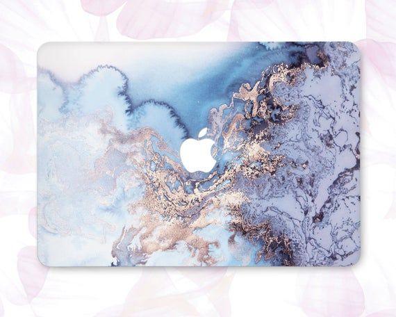 Blue Marble Macbook 12 Laptop Case Marble Macbook Pro 13 2019 Macbook Air 13 Cute Macbook Case Gold Marble Pro Retina 2017 Touch Bar CBB7018