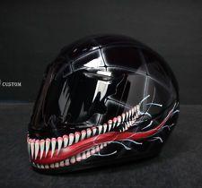 VENOM (2) airbrushed motorcycle custom paint helmet full face DOT KBC Sparx