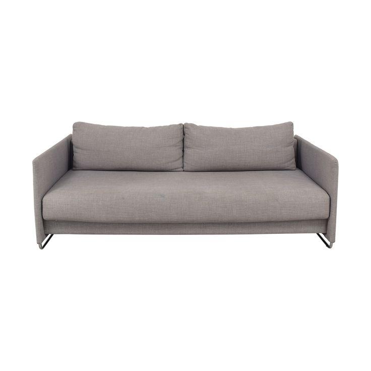 Best Cb2 Tandom Microgrid Grey Sleeper Sofa In 2019 Sleeper 640 x 480