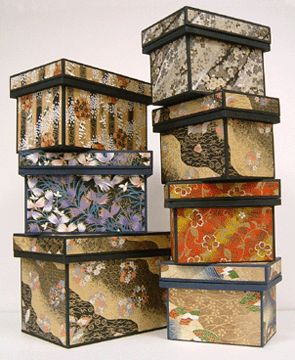 tea containers japanese washi boxes